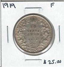 Canada 1919 50 Cent Silver F