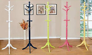 Furniture of America Kolora Wooden Youth Coatrack, Blue, White, Green, Pink