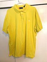 Chaps Short Sleeve Polo Shirt Neon Yellow Mens Size XXL