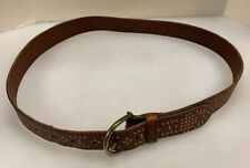 American Eagle Outfitters AEO Women Small S Belt Brown Leather Gold Studded Stud
