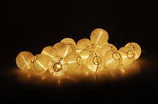 Party Lichterkette 20 LED Lampions - warmweiß - Außen Innen Lampion Strom Party