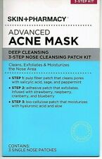 Skin+Pharmacy Advanced Acne Mask Deep Cleaning 3-Step Nose Cleansing Patch Kit