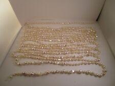 20' Iridescent Plastic Christmas Garland String White Beaded Pearl Wedding