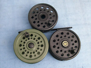 vintage fly fishing reels masterline sportsman  & shakespeare alpha 2528G & s .s