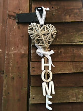 Rustique pays osier hanging heart white home lettres shabby mariage décoration
