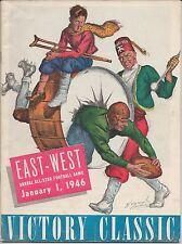1946 EAST-WEST SHRINE (VICTORY CLASSIC) All-Star Football Program DOAK WALKER