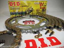 TRIUMPH 900 TRIDENT 91/98 DID GOLD 530 VX  X-RING CHAIN AND SPROCKET KIT OEM