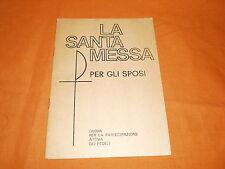 la santa messa per gli sposi s.d. opuscolo