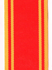 """Medal Ribbon.FIRE SERVICE LONG SERVICE. Full Size. Sold in 6"""" Lengths"""