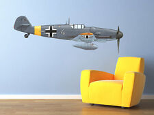 Vintage World War 2 Airplane Messerschmidt Bf-109G Wall Decal Vinyl Aviation