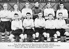 PORT VALE FOOTBALL TEAM PHOTO>1953-54 SEASON