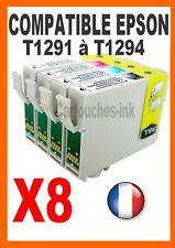 2+6 Cartouches-ink non-OEM pour EPSON SX445W T1291/1292...