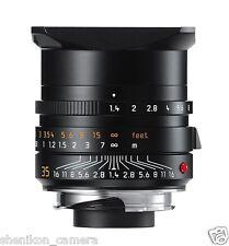 New Unused Leica SUMMILUX-M 35mm F1.4 f/1.4 ASPH. Black 6-Bit M 240 M9 M8 11663
