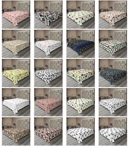 Ambesonne Dog Theme Art Flat Sheet Top Sheet Decorative Bedding 6 Sizes
