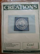 New Vintage Creations Japanese White.and Blue Stitchery Crewel Kit