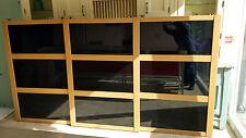 New 3x Sliding Wardrobe Black Glass 'Shaker' Doors to suit 1522H x 2784mm W