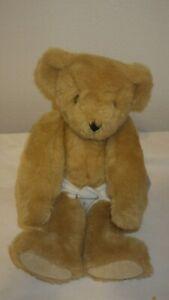 """Vintage Vermont Teddy Bear Plush Brown Classic Jointed 20"""" 1991"""