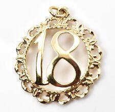 Vintage 9ct Gold Charm - 18th Birthday 2.59g (Hallmarked) 9k 375