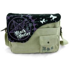 Anime Black Butler Shoulder Bag Canvas School Bag Messenger Satchel Phone Pocket