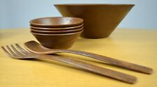 THERMO-SERV Westwood Salad Bowl Set (Wood Grain Finish) Made in U.S.A.