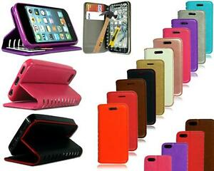 For Apple iPhone 5s 6 7 Plus New Stylish Leather Flip Stand Wallet Case + Glass