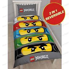 LEGO Ninjago Eyes Single Panel Duvet Reversible Kids Quilt Cover Bedding Set