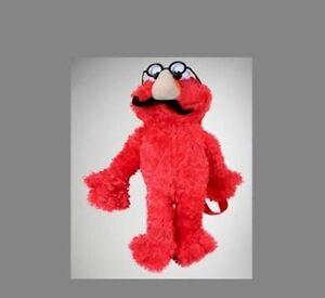 New Elmo Sesame Street Plush Doll Backpack Bag Nerd Glasses   NEW