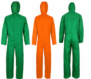 Nylon Waterproof Coverall Overall Boiler Suit Work wear  Men  with hudd