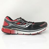 Saucony Mens Triumph ISO S20262-2 Black Red Running Shoes Lace Up Size 10.5