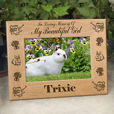 Personalized Rabbit Memorial Frame - In Loving Memory Of My/Our Beautiful Girl
