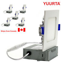 """YUURTA (5-pack) 4"""" 10W Square Slim Dimmable LED Recessed Ceiling Downlight"""
