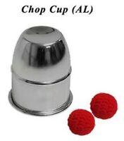 CHOP CUP ALUMINUM & BALLS BY PREMIUM MAGIC TRICK CLOSE UP VANISH REAPPEAR GIMMIC