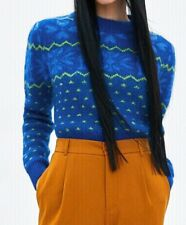 Zara Knitwear Crop Sweater Blue Size S