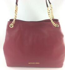 New Authentic Michael Kors Jet Set Large Chain Shoulder Tote Handbag Mulberry