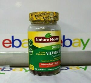 Nature Made Extra-Strength Vitamin D3 5000 IU, 150Gummies, Exp-07/2021