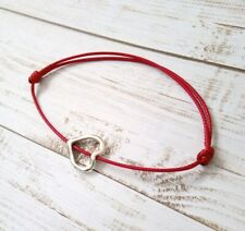 Red cord bracelet With Love Heart Pendant, women, lady, girls