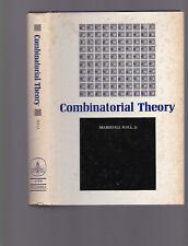 Combinatorial Theory by Marshall Hall Jr., 1967 1st ed hardcover with DJ, nice