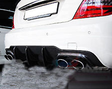 For Benz C204 COUPE W204 SEDAN Big Fins Carbon Fiber Rear Diffuser C250 C63