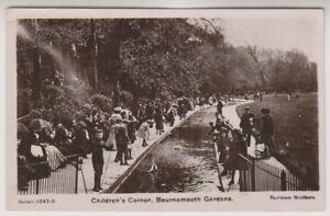 Dorset postcard - Childrens Corner, Bournemouth Gardens - P/U 1910 (A1097)