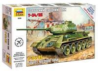 Zvezda  1:72  T-34/85 SOVUIEt  MED TANK  ZVE5039