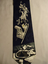 Best Tie Blue and White Christmas Santa and Reindeer Sled Designs Tie 58""