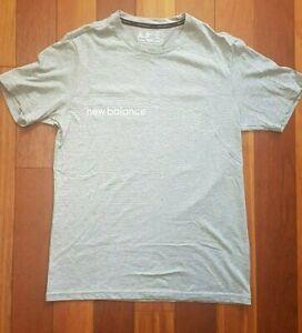 New Balance Exercise Running Gym Shirt - Running Man Design - Grey - Size S