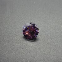 Many Small Size 100Pcs For Purple Zircon Round Cut AAAAA VVS Loose Gemstone