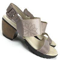 Jambu Sunstone Leather Slingback Sandal Heel Memory Foam Women's US Size 7 M
