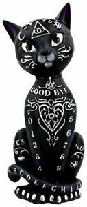 Black Mystic Kitty - Cute Gothic Figurine - Cat Magic Witches Sculpture