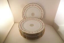 Vintage CH Field Haviland Limoges France Set of 8 Pink Rose Garland Salad Plates