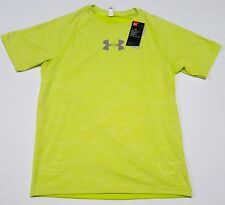 Under Armour Mens Ua Mileage Heat Gear Shirt Lime 1294136-772