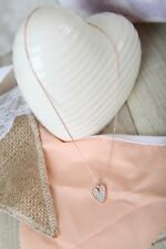 Rose Gold & diamonte effect Heart pendant Necklace