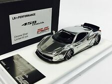 1/43 D&G MS Davis & Giovanni LB Widebody Ferrari 458 Chrome Silver