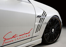 Sports mind Powered by JAGUAR X S Tipe Racing Decal sticker RED Pair